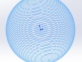绘制球形螺旋线--采用SolidWorks(文末有视频)