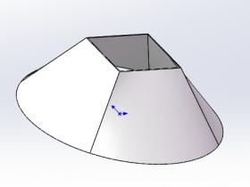 天圆地方下料尺寸-通过solidworks