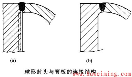 球形封头与管板的连接结构.png