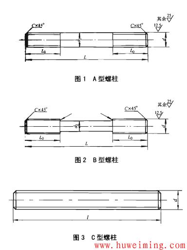 筒体法兰用螺柱形式.png