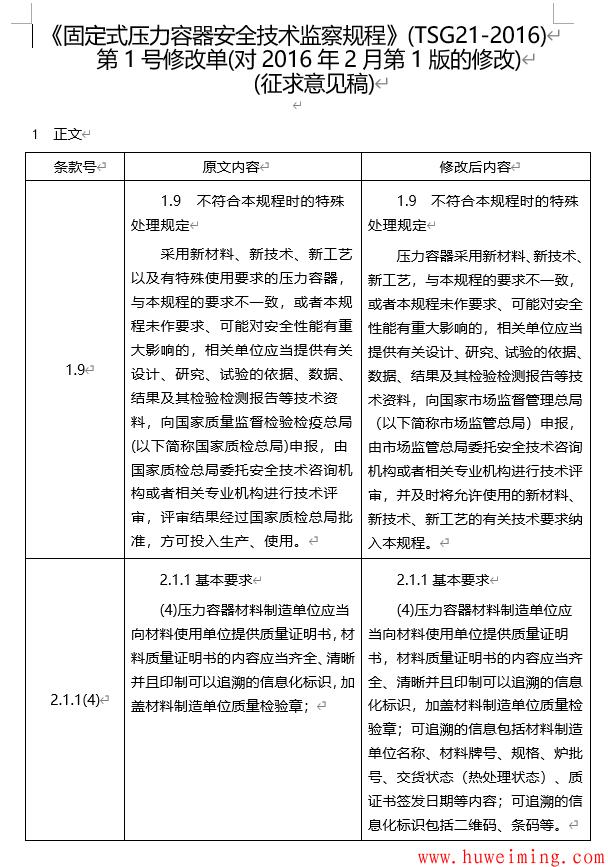 《〈固定式压力容器安全技术监察规程〉第1号修改单(征求意见稿)》.png
